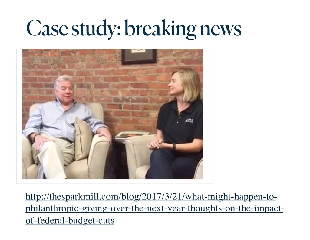 Case study: breaking news http://thesparkmill.c...