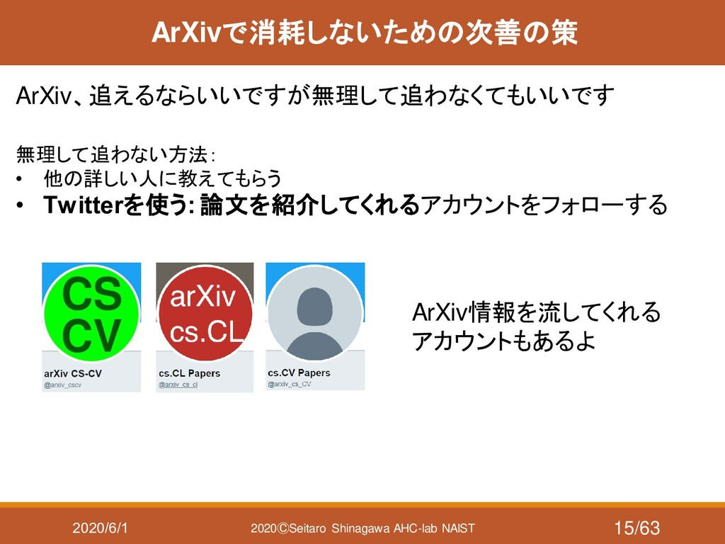 2020/6/1 2020ⒸSeitaro Shinagawa AHC-lab NAIST A...