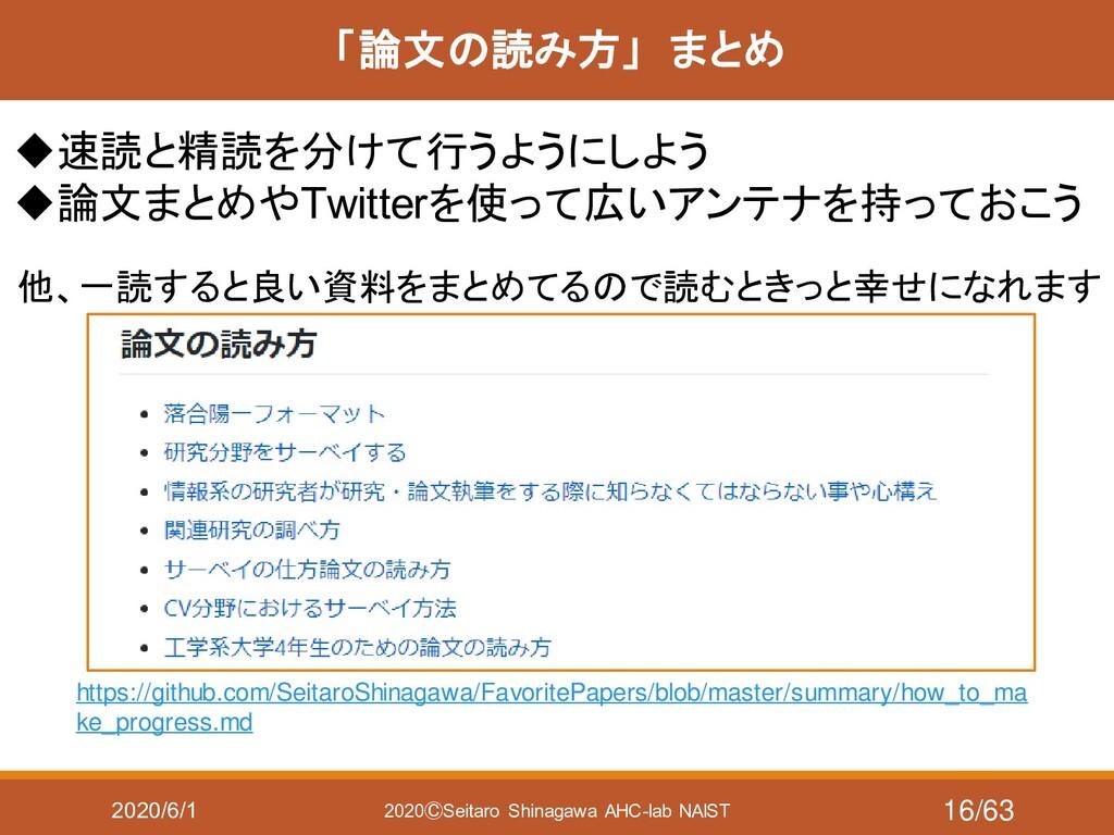 2020/6/1 2020ⒸSeitaro Shinagawa AHC-lab NAIST 「...