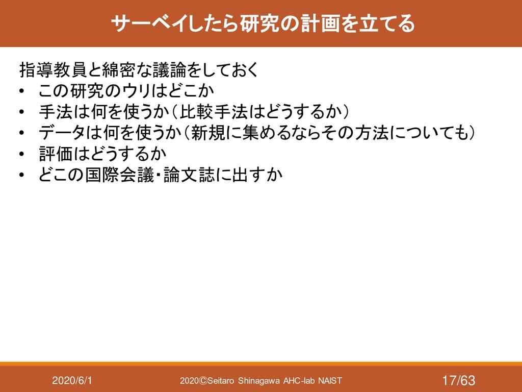 2020/6/1 2020ⒸSeitaro Shinagawa AHC-lab NAIST サ...