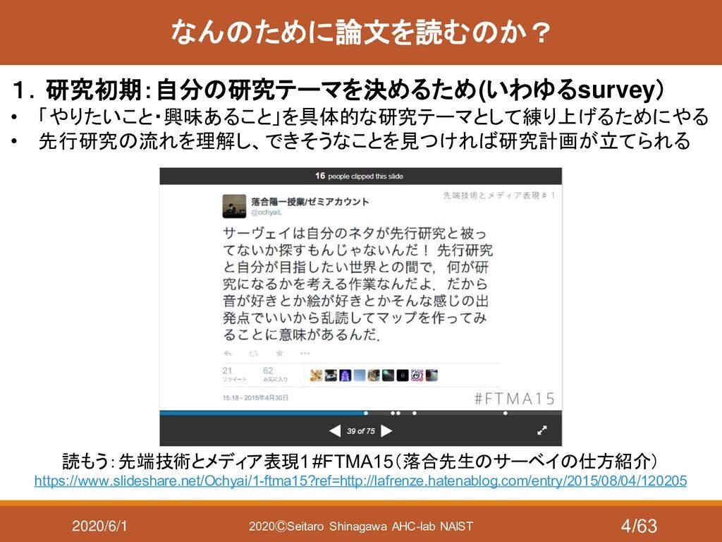 2020/6/1 2020ⒸSeitaro Shinagawa AHC-lab NAIST な...