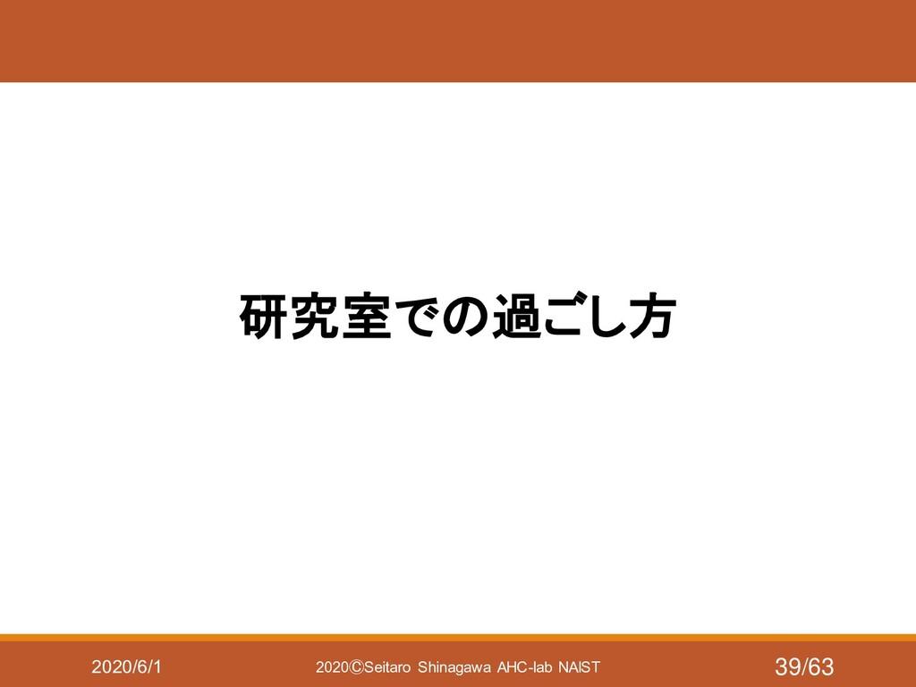 2020/6/1 2020ⒸSeitaro Shinagawa AHC-lab NAIST 研...