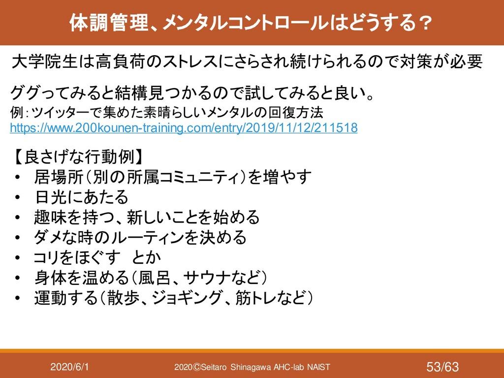 2020/6/1 2020ⒸSeitaro Shinagawa AHC-lab NAIST 体...