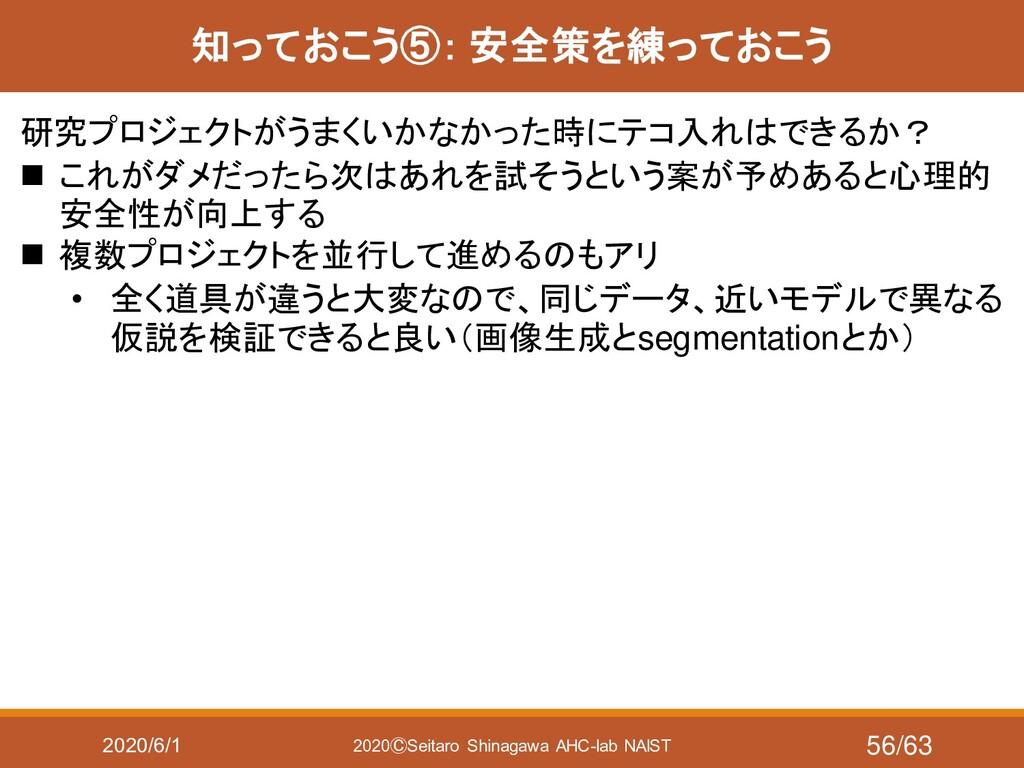 2020/6/1 2020ⒸSeitaro Shinagawa AHC-lab NAIST 知...