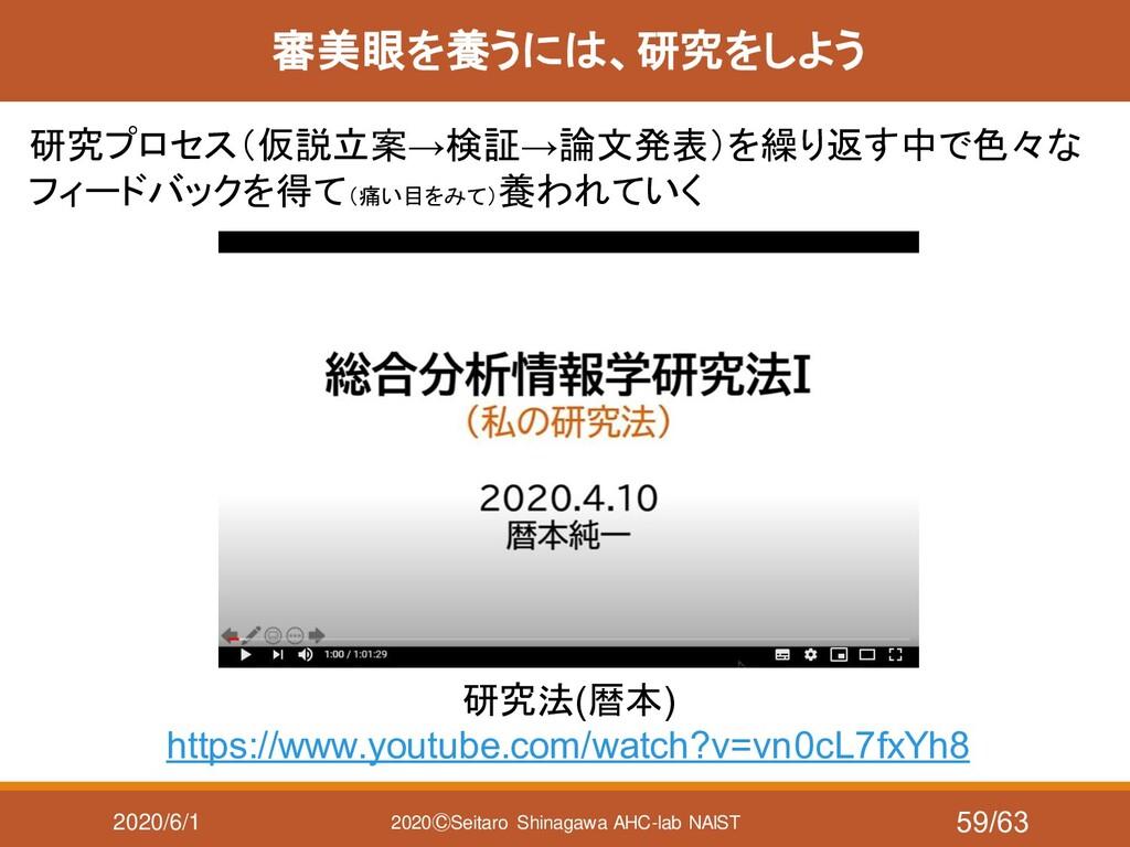 2020/6/1 2020ⒸSeitaro Shinagawa AHC-lab NAIST 審...