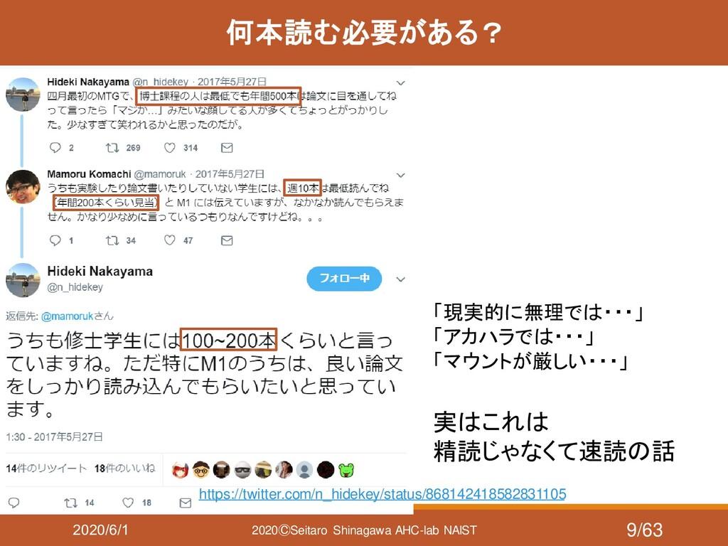2020/6/1 2020ⒸSeitaro Shinagawa AHC-lab NAIST 何...
