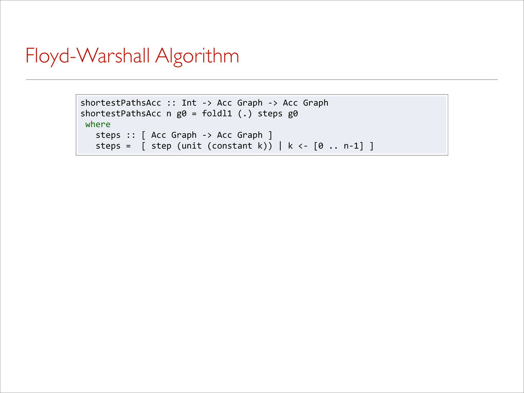 Floyd-Warshall Algorithm shortestPathsAcc%::%In...