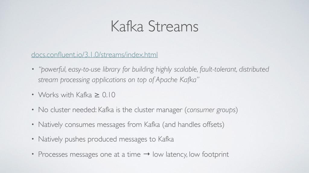 Kafka Streams docs.confluent.io/3.1.0/streams/in...