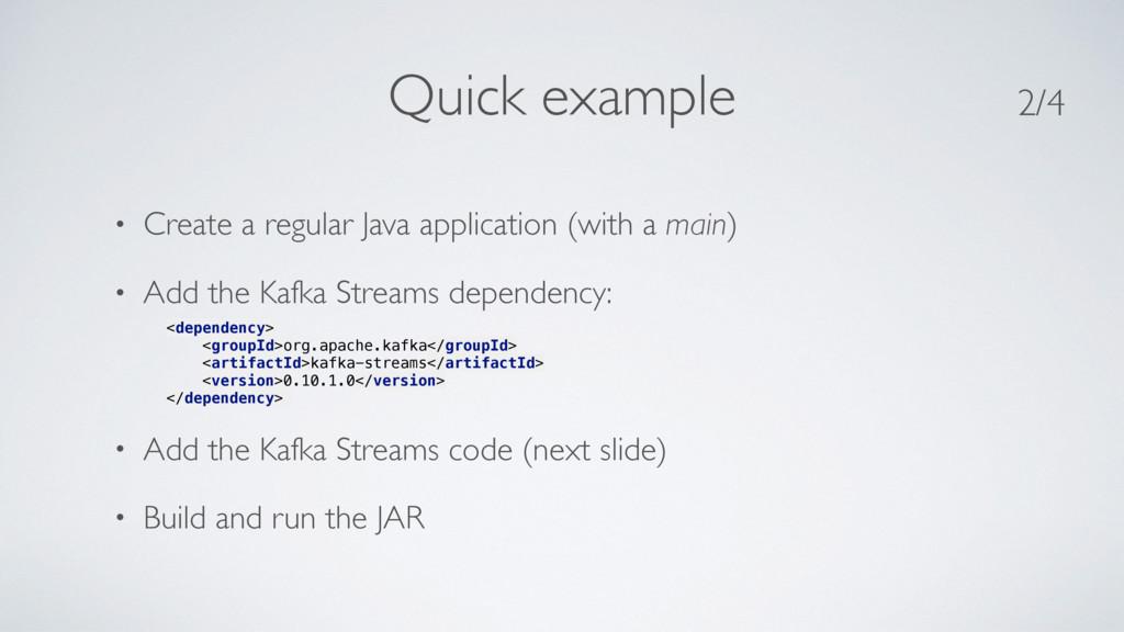 • Create a regular Java application (with a mai...