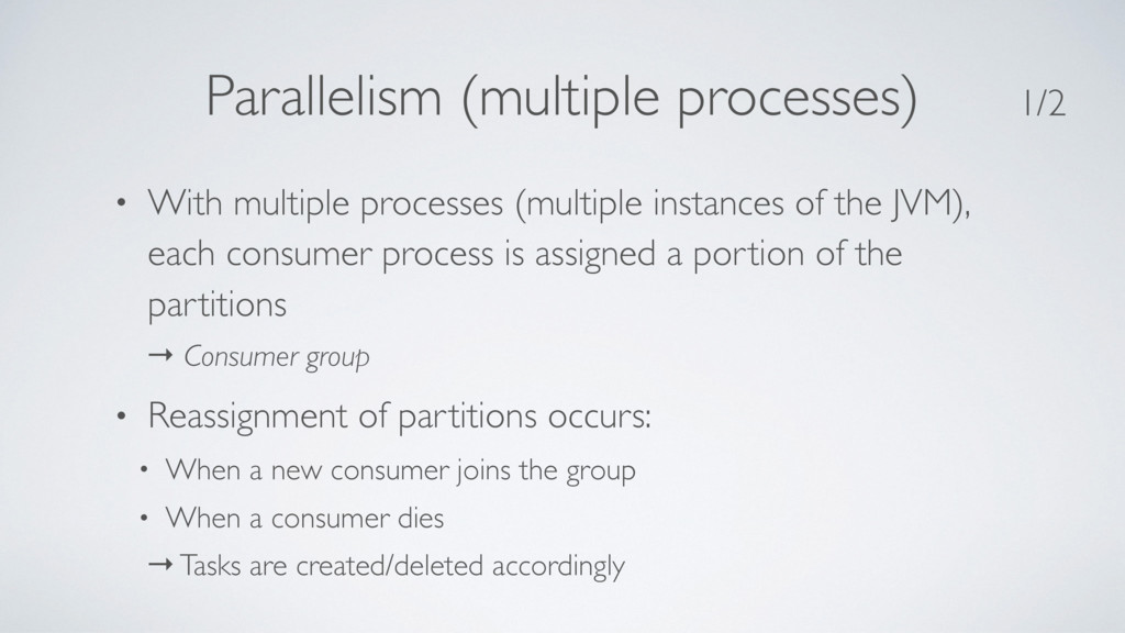 Parallelism (multiple processes) • With multipl...