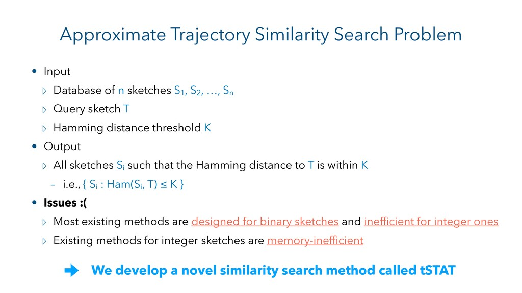 Approximate Trajectory Similarity Search Proble...