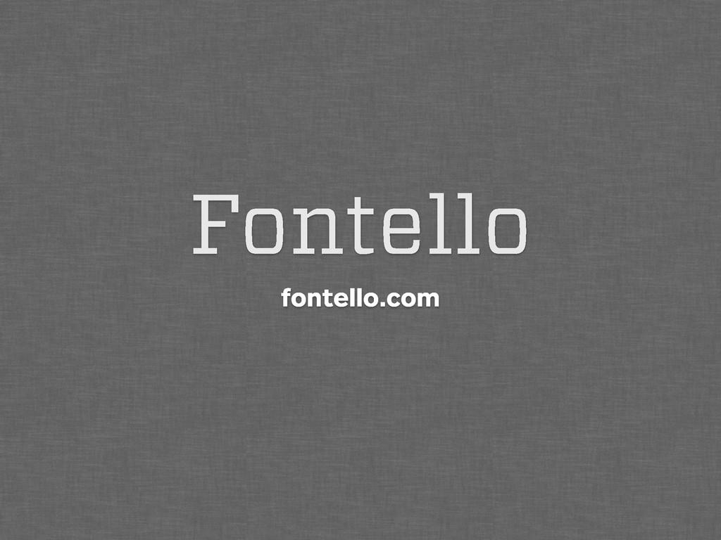 Fontello fontello.com