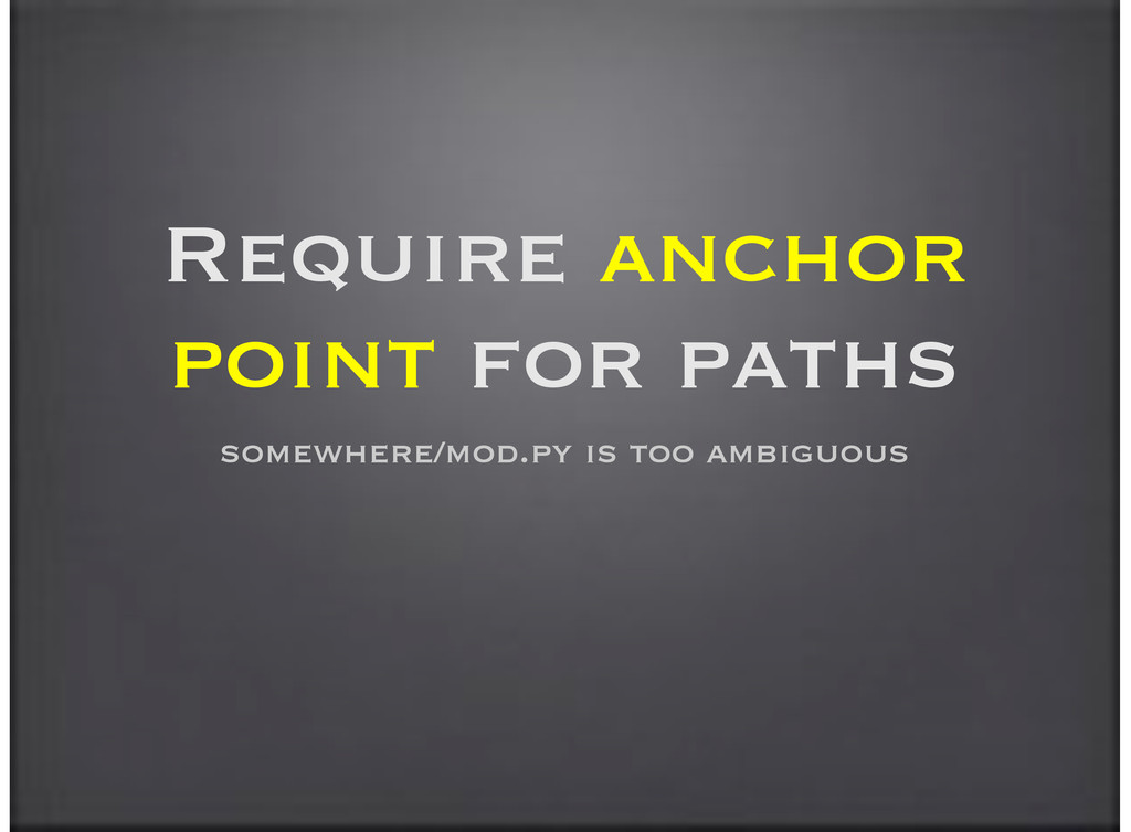 Require anchor point for paths somewhere/mod.py...