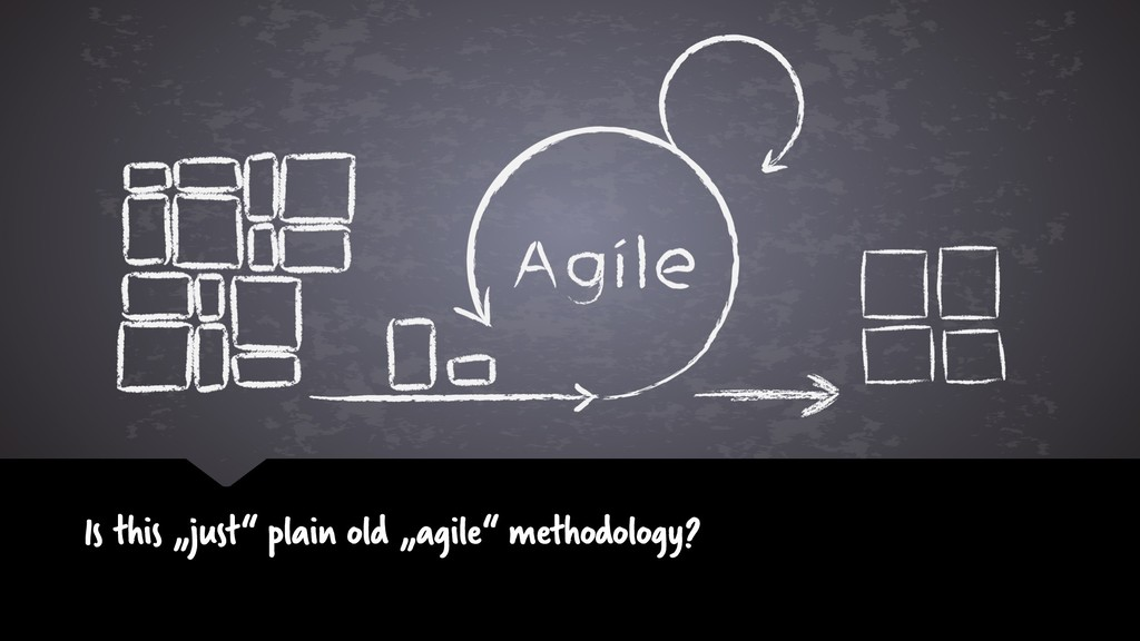 "Is this ""just"" plain old ""agile"" methodology?"