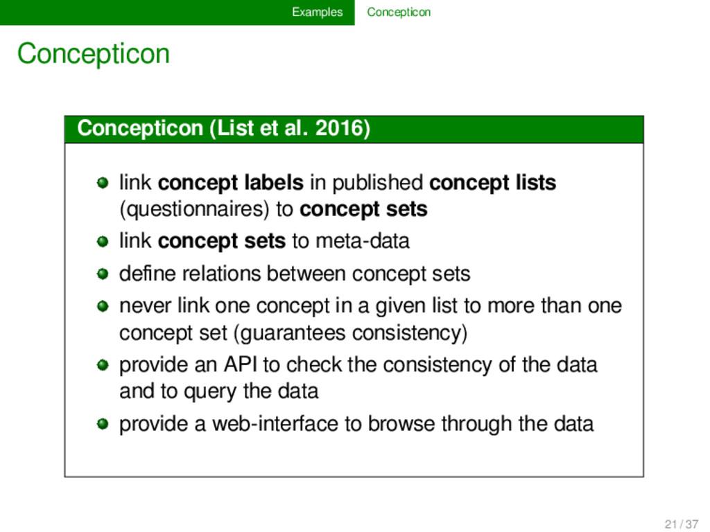 Examples Concepticon Concepticon Concepticon (L...