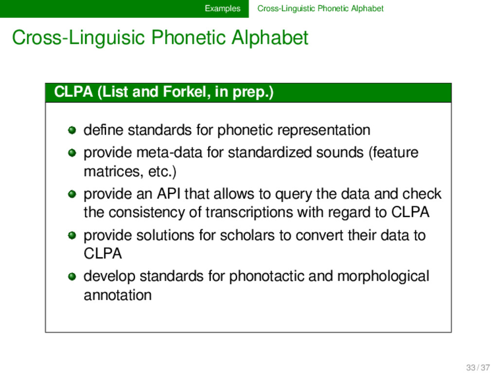Examples Cross-Linguistic Phonetic Alphabet Cro...