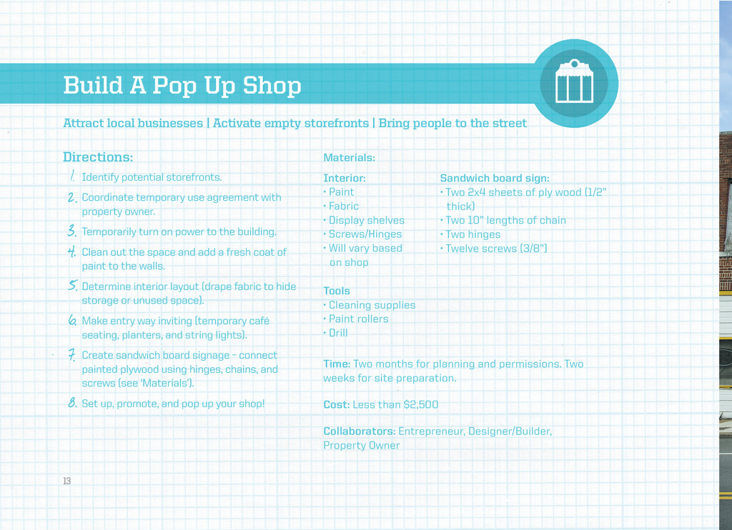 Build A Pop Up Shop Directions: Materials: Inte...
