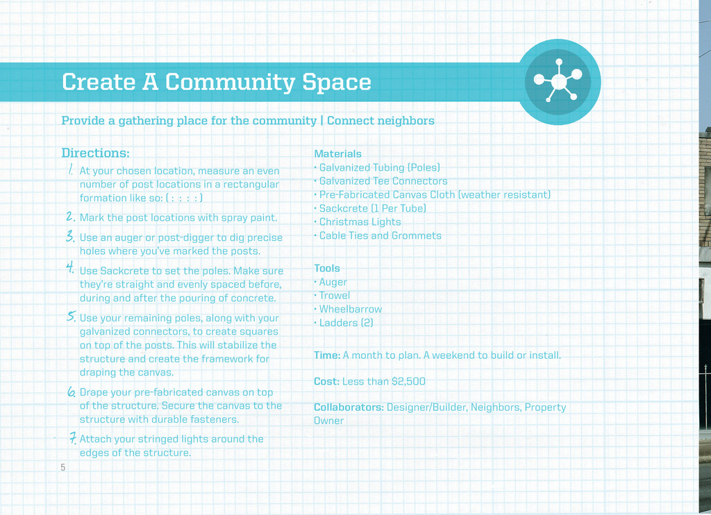 Create A Community Space Directions: Materials ...