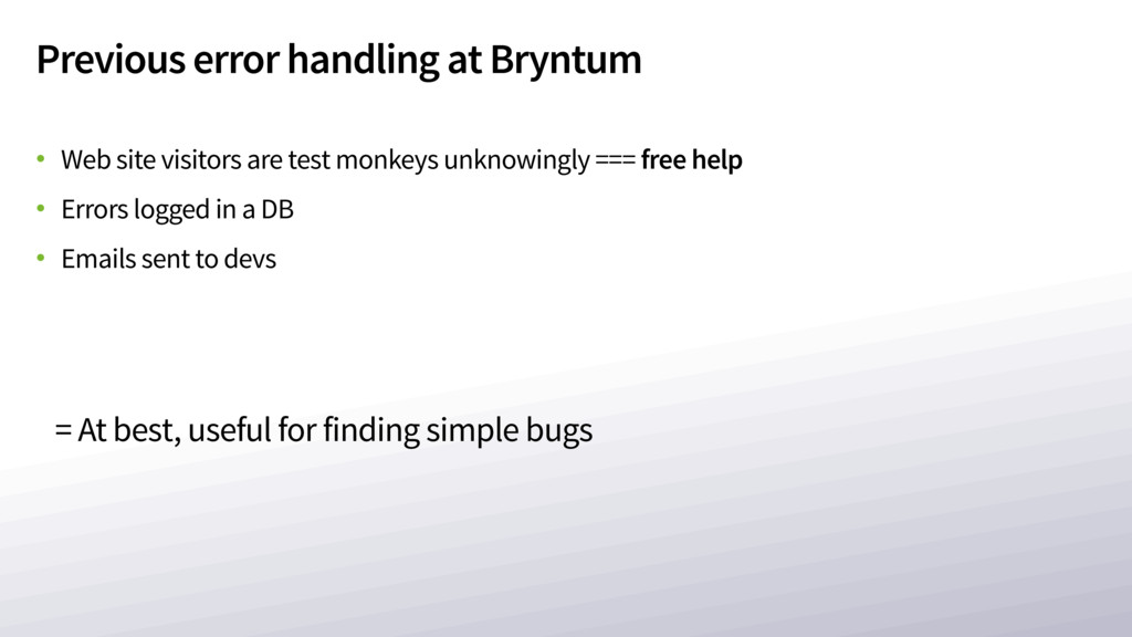Previous error handling at Bryntum • Web site v...