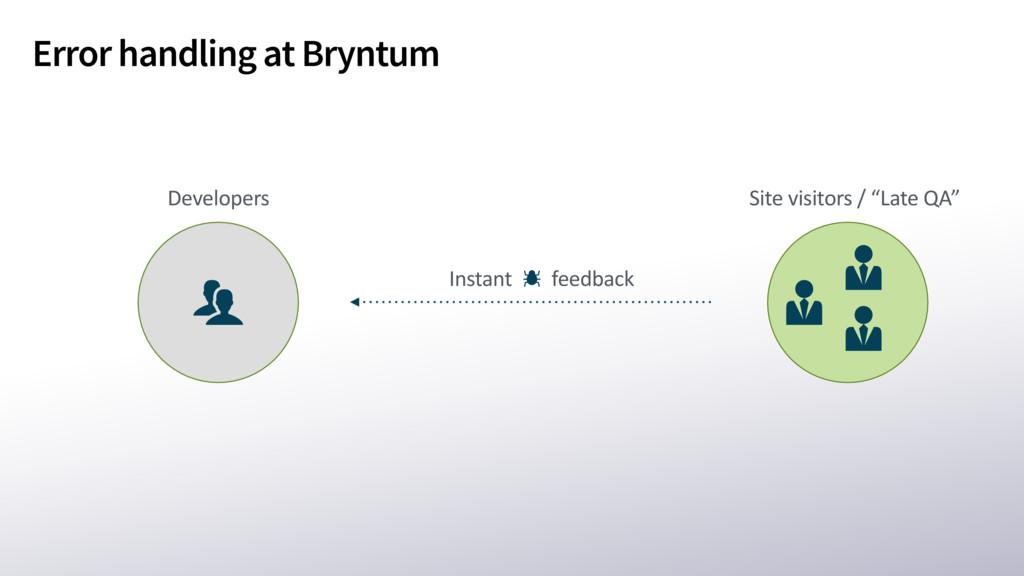 Error handling at Bryntum Instant feedback Site...
