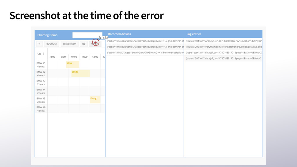 Screenshot at the time of the error