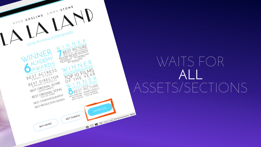 WAITS FOR ALL ASSETS/SECTIONS