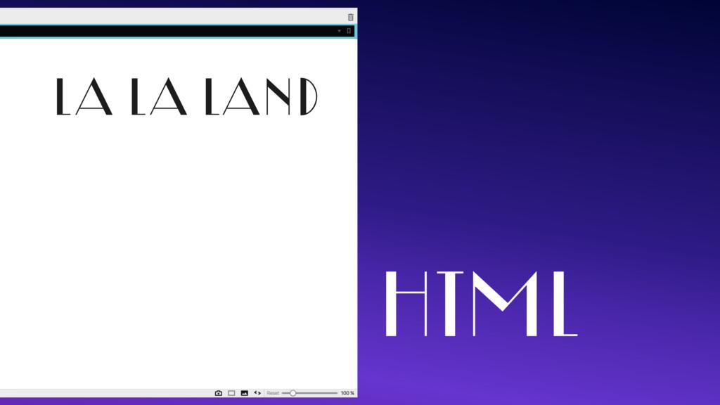 LA LA LAND HTML
