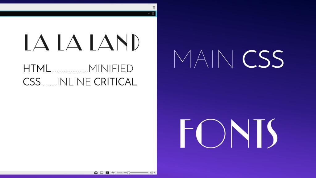 LA LA LAND FONTS MAIN CSS HTML…………………MINIFIED C...