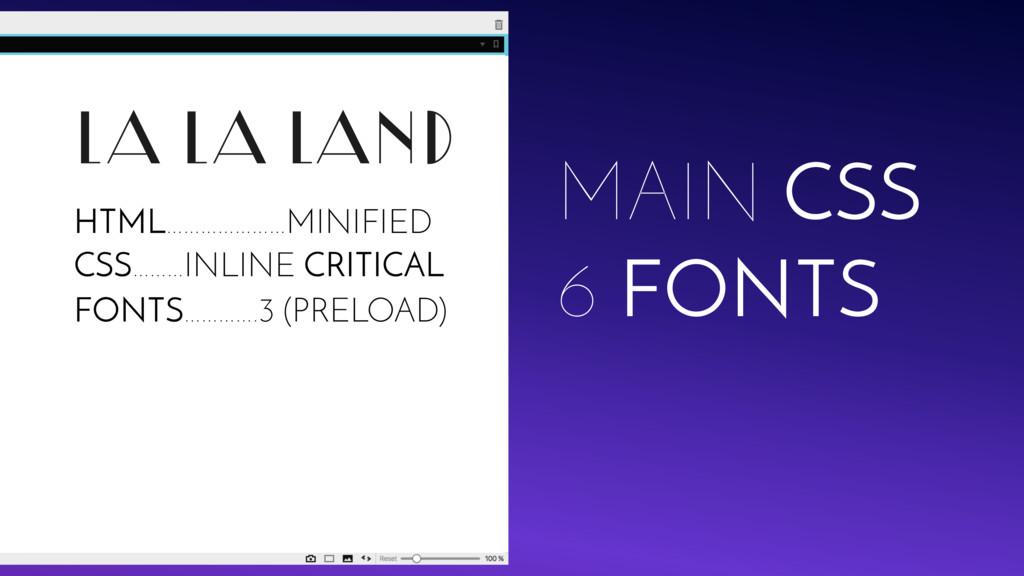 LA LA LAND MAIN CSS 6 FONTS FONTS………….3 (PRELOA...