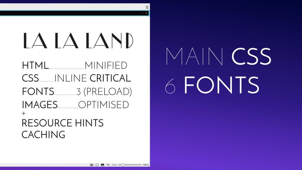 LA LA LAND MAIN CSS 6 FONTS IMAGES…………OPTIMISED...