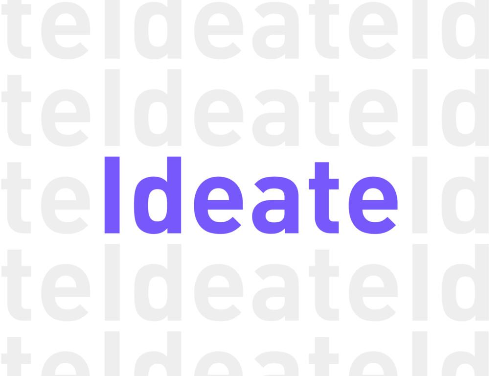 Ideate Ideate Ideate Ideate Ide Ide Ide Ide te ...