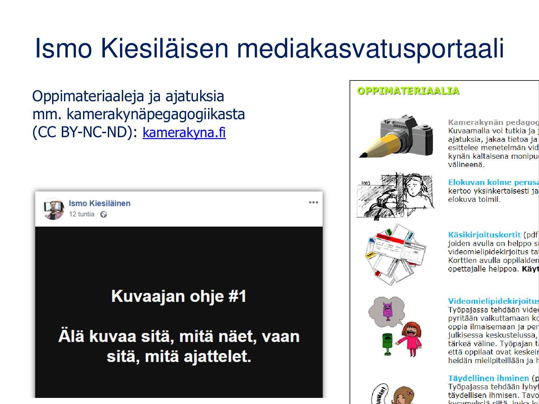 kaikkikuvaa.fi/edu Sivustolta löydät itsenäises...