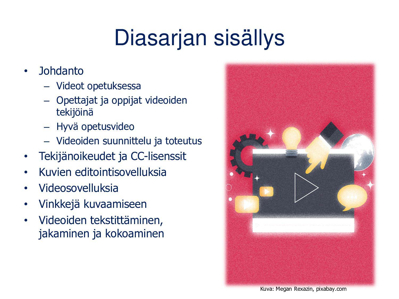 Diasarjan sisällys Johdanto • Videot opetuksess...