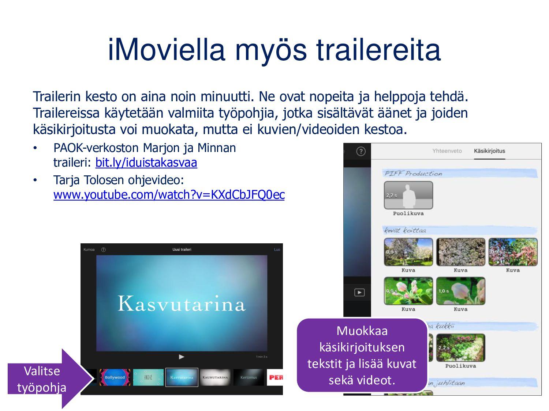 Jakaminen ja kokoaminen Videot jaetaan yleensä ...