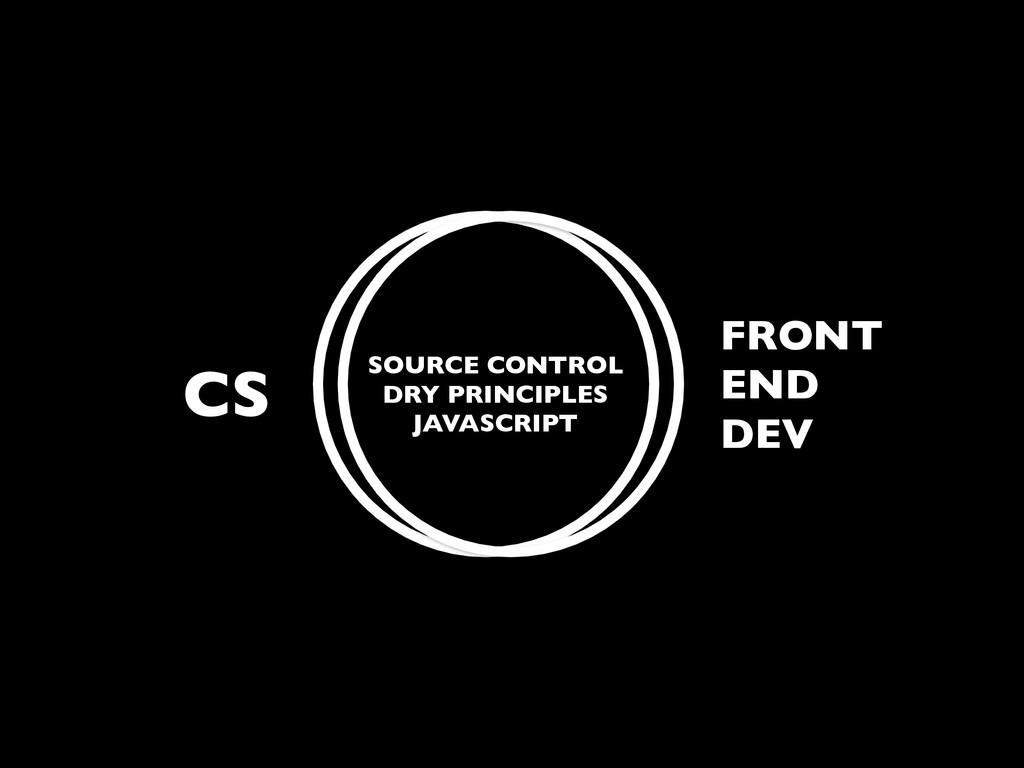 CS FRONT END DEV SOURCE CONTROL DRY PRINCIPLES ...