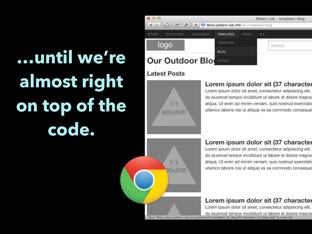 …until we're almost right on top of the code.