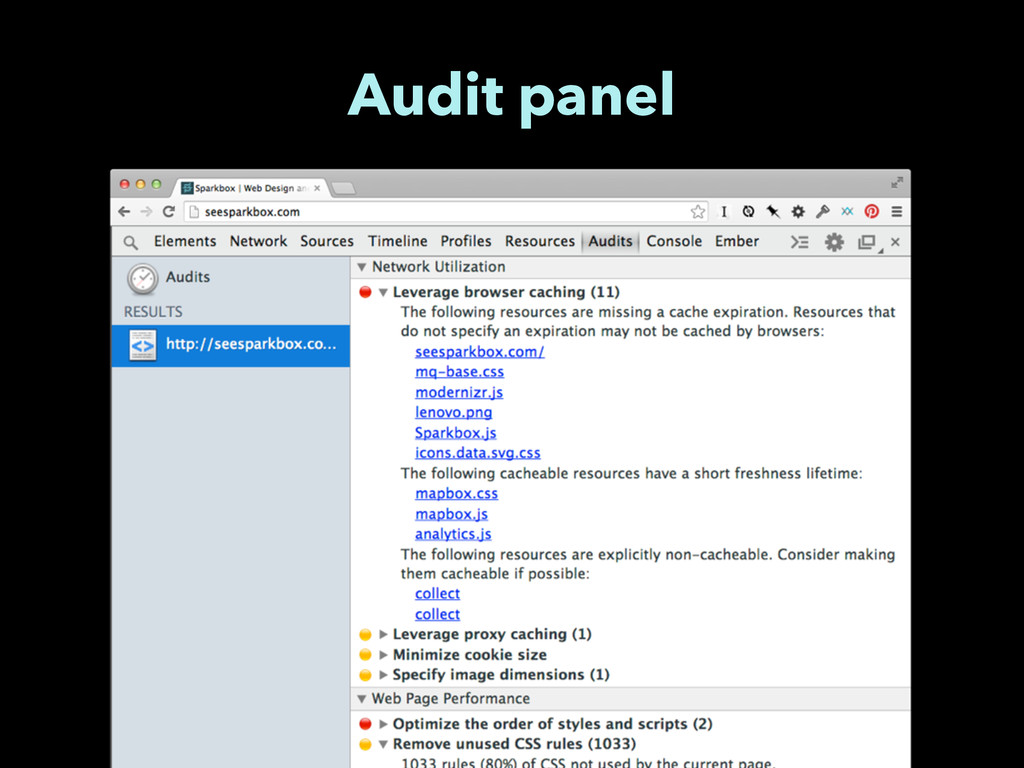 Audit panel