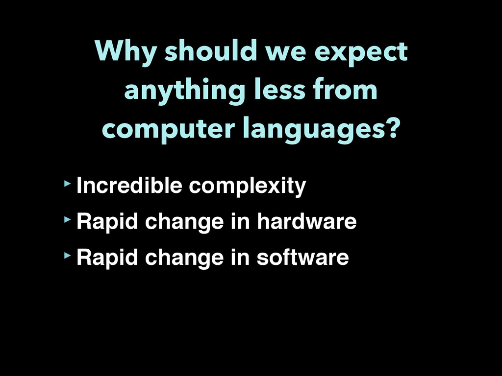 Why should we expect anything less from compute...
