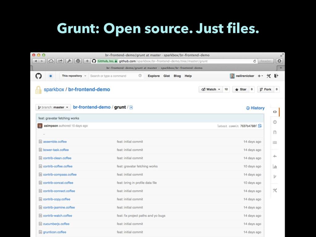 Grunt: Open source. Just files.