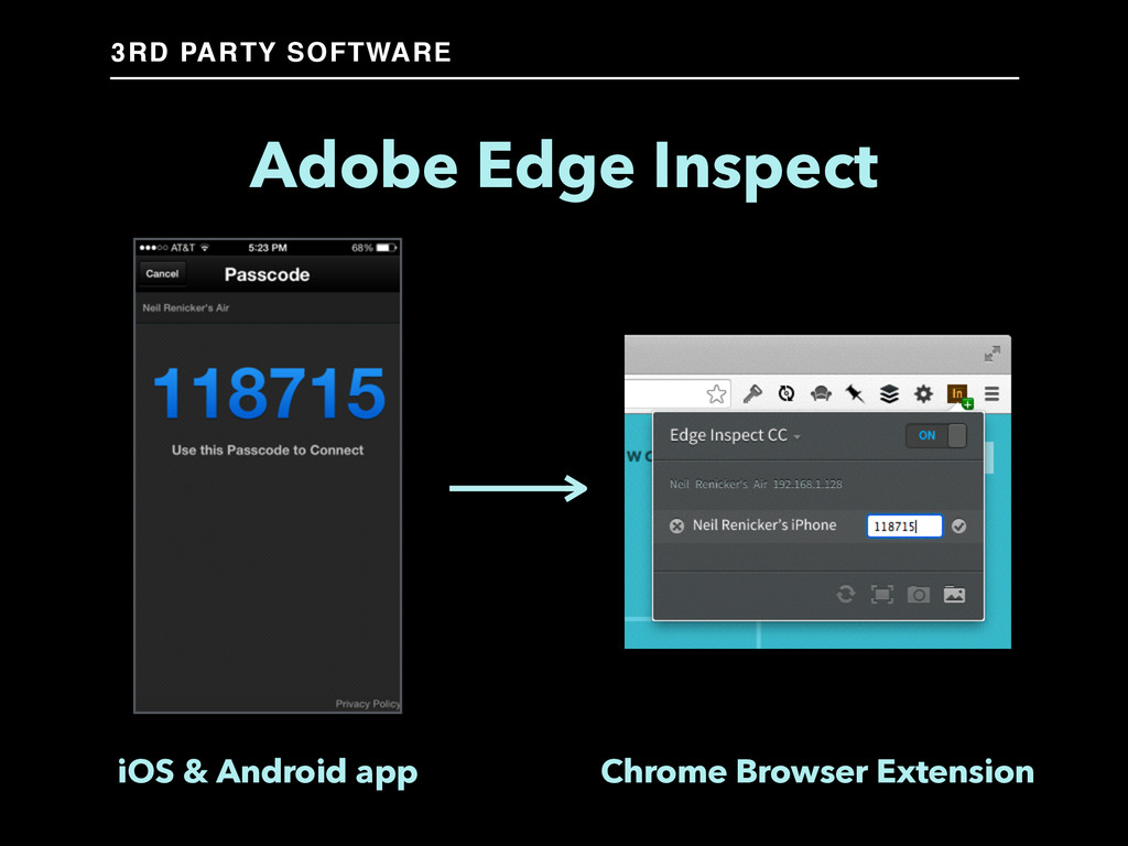 Adobe Edge Inspect iOS & Android app Chrome Bro...