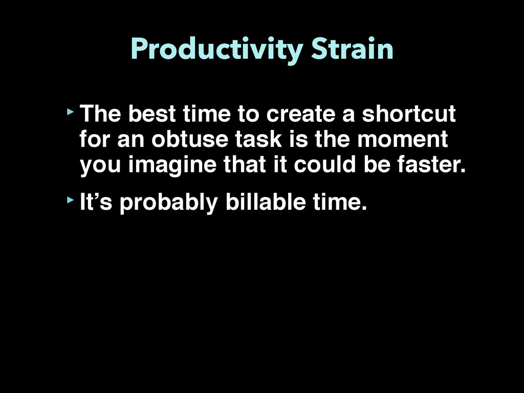 Productivity Strain ‣The best time to create a ...