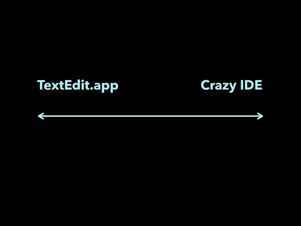 TextEdit.app Crazy IDE