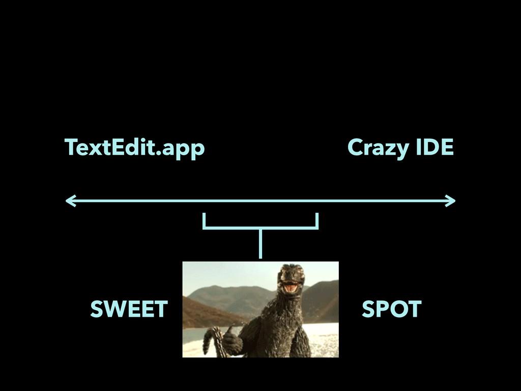 TextEdit.app Crazy IDE SWEET SPOT