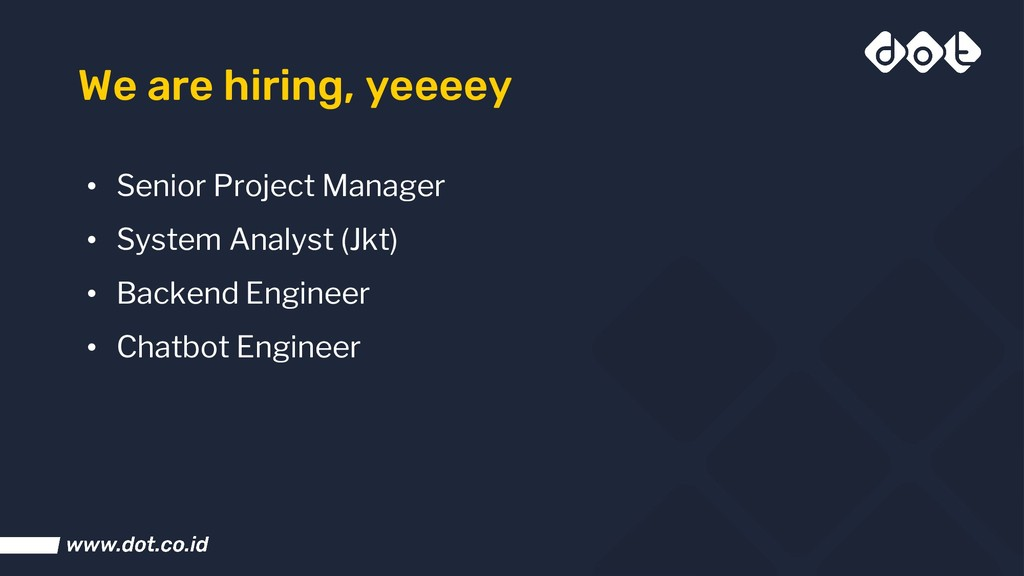 We are hiring, yeeeey • Senior Project Manager ...