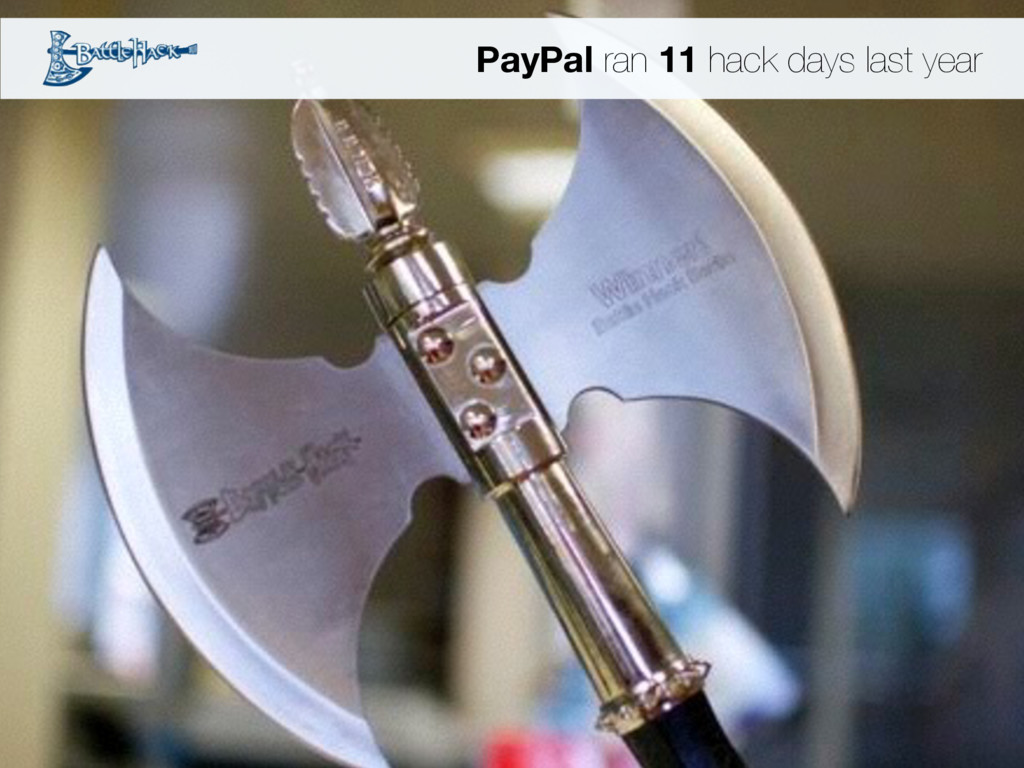 PayPal ran 11 hack days last year
