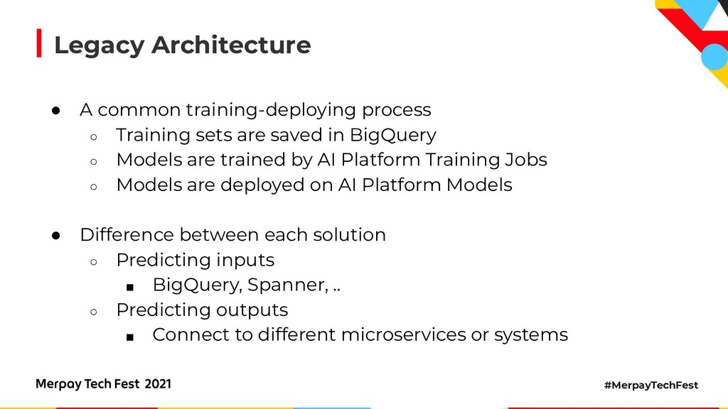 #MerpayTechFest Legacy Architecture ● A common ...