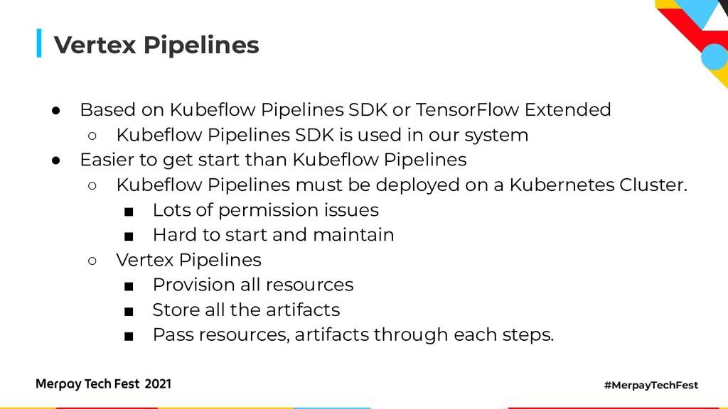 #MerpayTechFest Vertex Pipelines ● Based on Kub...
