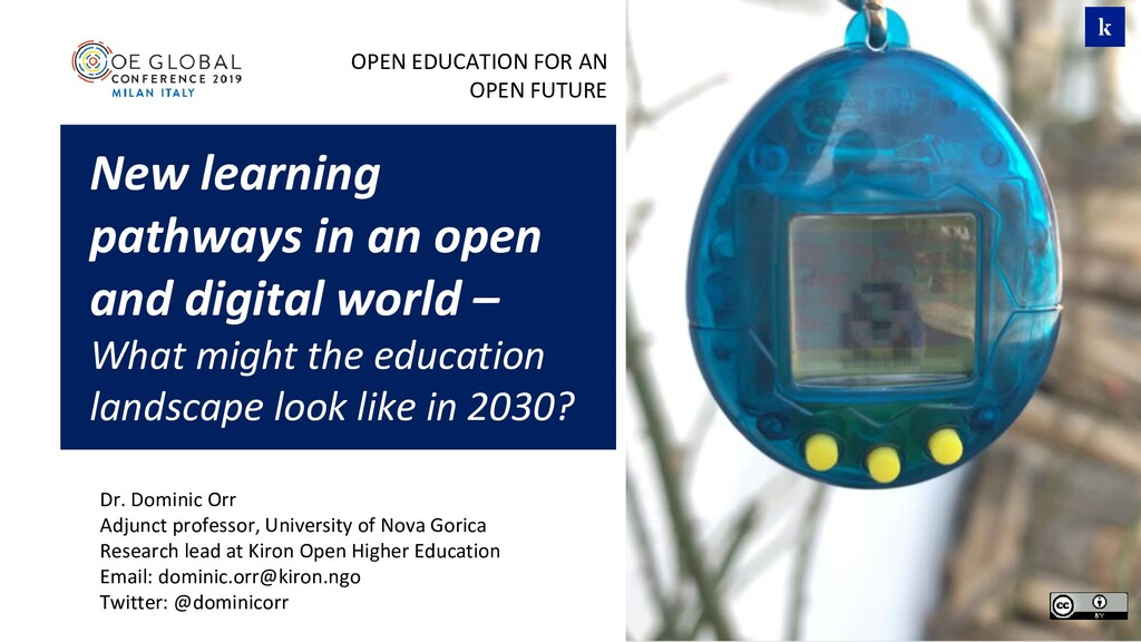 OPEN EDUCATION FOR AN OPEN FUTURE New learning ...