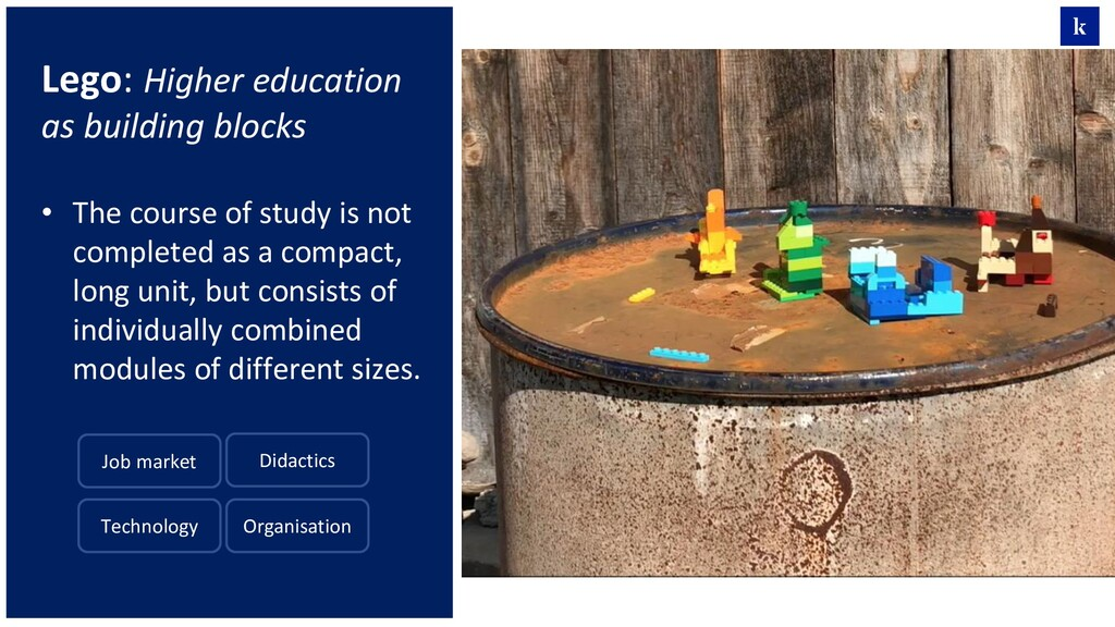 Lego: Higher education as building blocks • The...