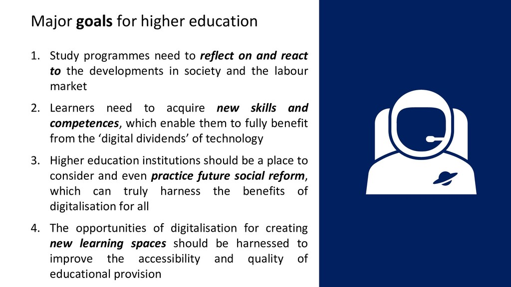 1. Study programmes need to reflect on and reac...